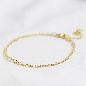 Infinity Chain Bracelet in Gold