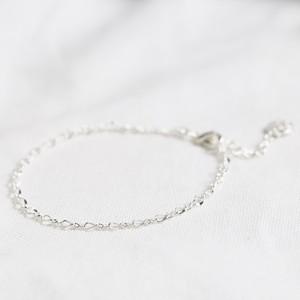 Infinity Chain Bracelet in Silver