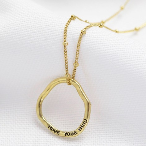 Personalised Large Organic Shape Hoop Necklace