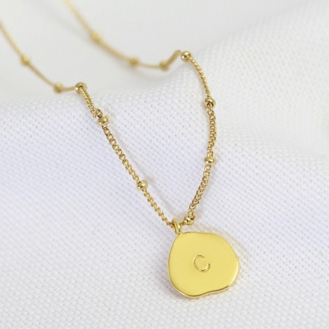 Personalised Organic Shape Disc Necklace