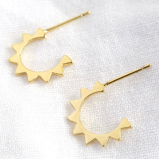 Gold Small Spiky Hoops