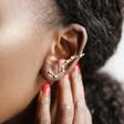 Crystal Constellation Ear Cuff on Model