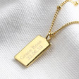 Personalised Tiny Hammered Tag Pendant Necklace on Gold