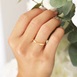 Lisa Angel Ladies' Twisted Gold Sterling Silver Ring on Model