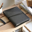Lisa Angel Men's Black Faux Leather Refillable Notebook