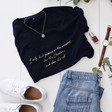 Lisa Angel Soft Cotton Christmas 'I Only Drink Prosecco...' T-Shirt in Black