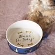 Lisa Angel Fun 'Where's the Turkey' Christmas Dog Food Bowl