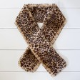 Soft Long Faux Fur Leopard Print Stole