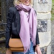 Lisa Angel Ladies' Lightweight Lavender Winter Scarf