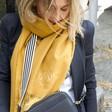 Lisa Angel Ladies' Personalised Embroidered Name Lightweight Winter Scarf