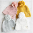 Lisa Angel Ladies' Personalised Soft Knit Bobble Hats
