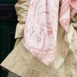 Personalised Soft Pink Marbled Effect Scarf on Model