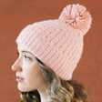 Lisa Angel Ladies' Winter Soft Knit Bobble Hat in Pink