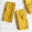 Lisa Angel Ladies' Soft Knit Hand Warmers in Mustard