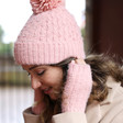 Lisa Angel Ladies' Soft Knit Hand Warmers in Pink