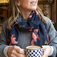 Lisa Angel with Ladies' House of Disaster Heritage & Harlequin Leopard Scarf on Model
