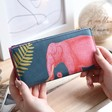Lisa Angel with Ladies' House of Disaster Heritage & Harlequin Elephant Wallet