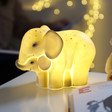 Lisa Angel with House of Disaster Mother & Baby Elephant Lamp
