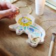 Lisa Angel with Ceramic House of Disaster Savannah Lion Trinket Dish