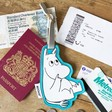 Lisa Angel with Cute House of Disaster Moomin Luggage Tag