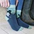 Lisa Angel with Unisex House of Disaster Moomin 'Tree' Print Socks
