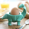 Kids House of Disaster Turquoise Origami Diplodocus Dinosaur Egg Cup