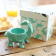 Lisa Angel House of Disaster Turquoise Origami Diplodocus Dinosaur Egg Cup