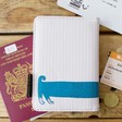 Lisa Angel with Kids' House of Disaster Over the Moon Dog Passport Holder