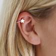 Lisa Angel Ladies' Sterling Silver Star Ear Cuff