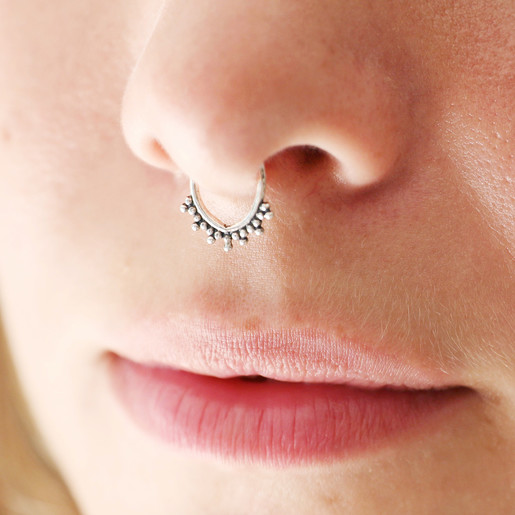 Sterling Silver Faux Septum Ring Lisa Angel