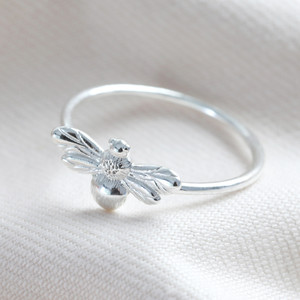 Sterling Silver Bee Ring - M/L