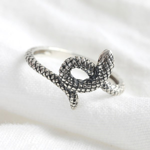Sterling Silver Snake Ring - M/L