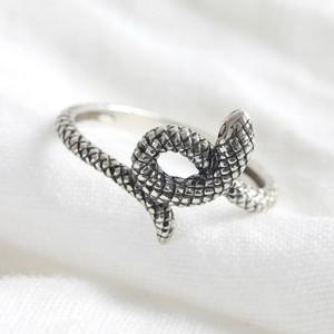Sterling Silver Snake Ring - M/L