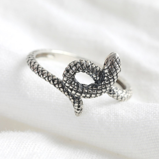 Sterling Silver Snake Ring - S/M