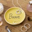 Lisa Angel Mustard Yellow 'Brave' Ring Dish