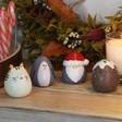 Lisa Angel Christmas Set of Four Festive Friends Ornaments