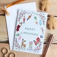 Lisa Angel 'Merry Christmas' Vintage Toys Greeting Card