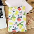 Lisa Angel Yellow Lemon Fruity Print A5 Notebook