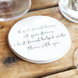 Lisa Angel Best Friend Quote Coaster