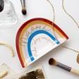 Personalised Name 'Make Today Amazing' Rainbow Trinket Dish