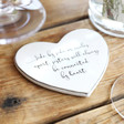 Lisa Angel Sister Quote Heart Coaster