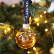 Lisa Angel with Novelty Personalised The English Whiskey Co. 20cl Whiskey Bauble