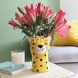 Lisa Angel Ceramic Leopard Head Vase