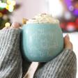 Ladies' Pastel Blue Speckled 'Everything I Am' Mug