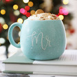 His Pastel Blue Speckled 'Mr' Mug
