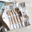 Lisa Angel Men's Reusable Bamboo Eating Set