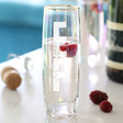 Lisa Angel Ladies' Personalised Initials Iridescent Stemless Prosecco Glass