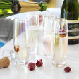 Lisa Angel Set of Four Iridescent Stemless Prosecco Glasses