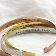 Lisa Angel Personalised Hand-Stamped Hammered Stainless Steel Torque Bangle