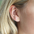 Lisa Angel Small Mismatched Star and Moon Stud Earrings in Gold